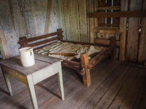 Inside an actual slave cabin at the Whitney Plantation museum of slavery - FREETOBEBRI.COM