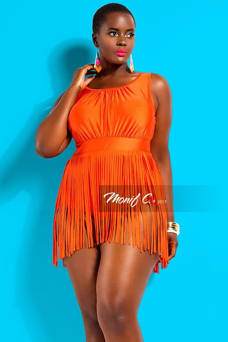 Peru Fringe Skirt Plus Size Swimsuit from Monif C.