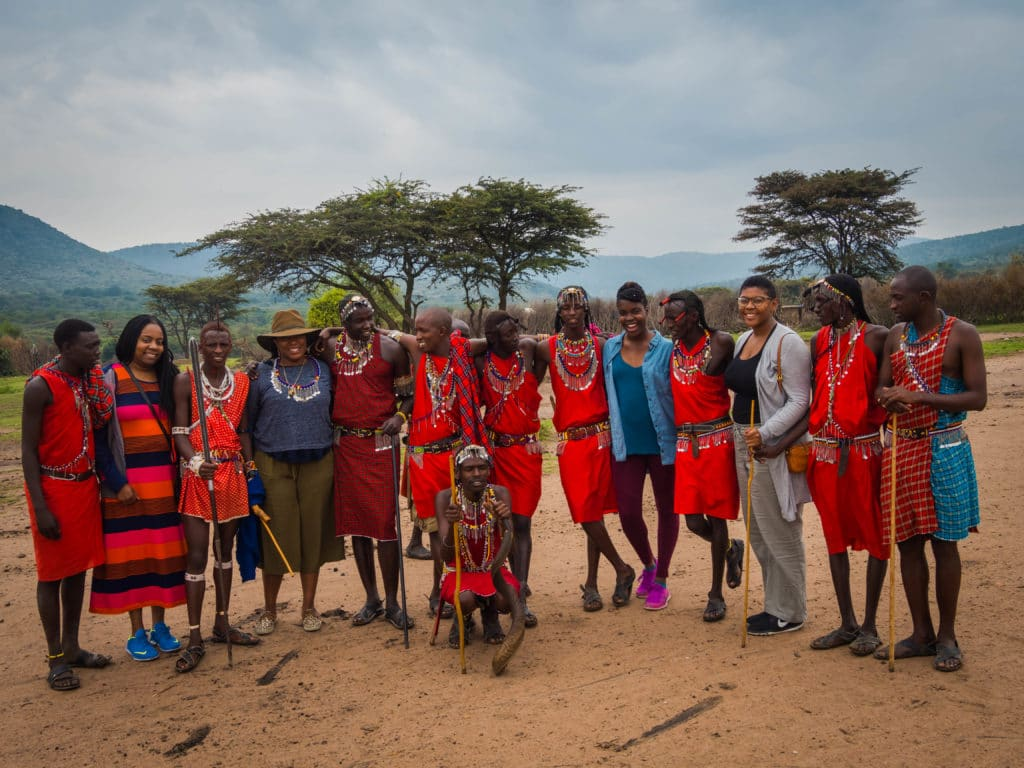 Travel -Visiting a Maasai Village outside of Masa Mara Safari in Kenya Africa