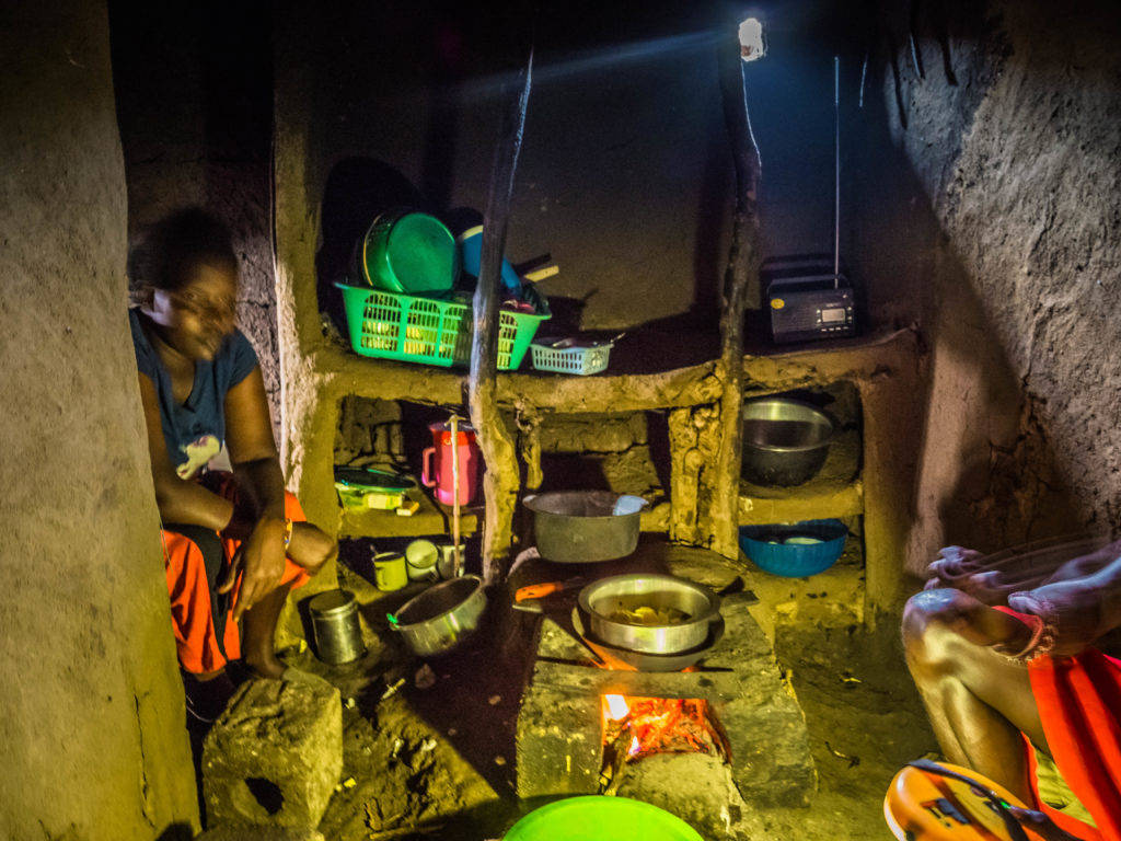 Travel - Visiting a Maasai village - The inside of a home in a traditional Maasai Village