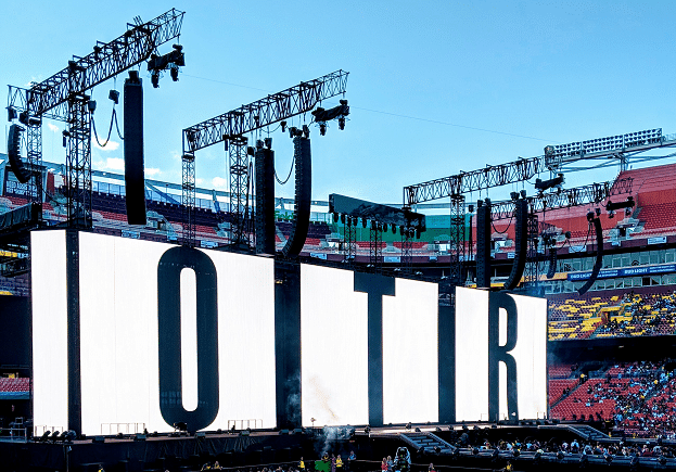 Stage setup for On The Run Tour II by Beyonce and JayZ- OTRII at FedEx Stadium #OTRII